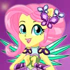 Crystal Guardian Fluttershy Dress Up Game