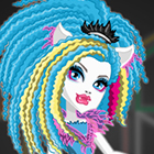 Monster High Electrified Supercharged Ghoul Silvi Timberwolf Dress Up Game