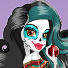 Jogo de Vestir Monster High Scarnival Skelita Calaveras Dress