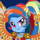 Jogo de Vestir Equestria Girls Legend of Everfree Crystal Wings Rainbow Dash