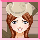 Cowgirl at Stable Dress Up
