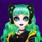 Jogo de Vestir Princesa Cyberpunk 2200
