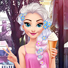 Elsa Pastel Summer Dress Up Game
