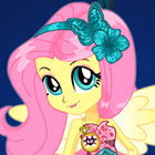 Jogo de Vestir MLPEG Legend of Everfree Crystal Gala Fluttershy