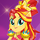 Jogo de Vestir Legend of Everfree Crystal Guardian Sunset Shimmer