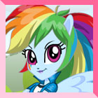Equestria Girls RainbowDash Dress Up