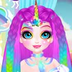 Miss Charming Unicorn Hairstyle Dress Up Game